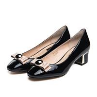 ST&SAT牛皮浅口单鞋