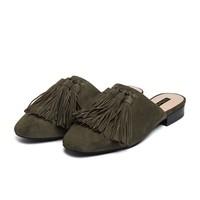 ST&SAT流苏穆勒鞋