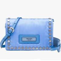 普拉达Prada 星际蓝色迷你包