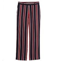 H&M 女士条纹梭织阔腿裤