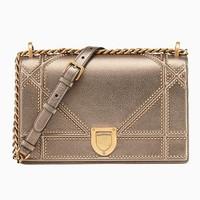 迪奥Dior DIORAMA金色小牛皮手提包