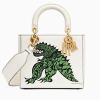 迪奥Dior 原色小牛皮印花手提包