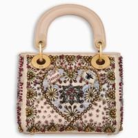 迪奥Dior 刺绣小牛皮袖珍手提包
