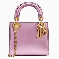迪奥Dior Lady 镜面小牛皮袖珍手提包