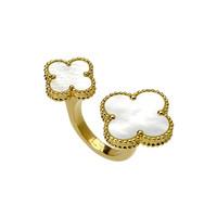 梵克雅宝珠宝优雅在新娘的指间