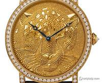 卡地亚完美展现金饰工艺 打造霸气猎豹腕表