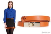 欧时力亮色腰带巧搭冬装 提升时尚感