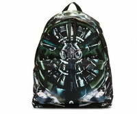 Givenchy Black Leather Trimmed Airplane Print Backpack 背包