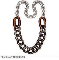 Dior多色彩挂饰设计项链