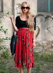模特街拍教你入秋裙装如何搭