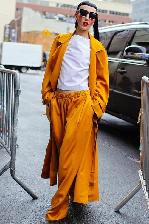 时装周街拍时髦二字已不够夸