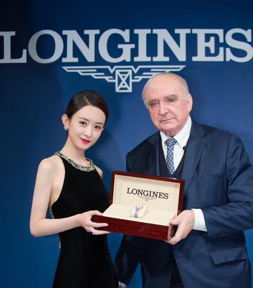 浪琴表携手优雅形象大使赵丽颖 全新开创者系列腕表献礼185周年时计展