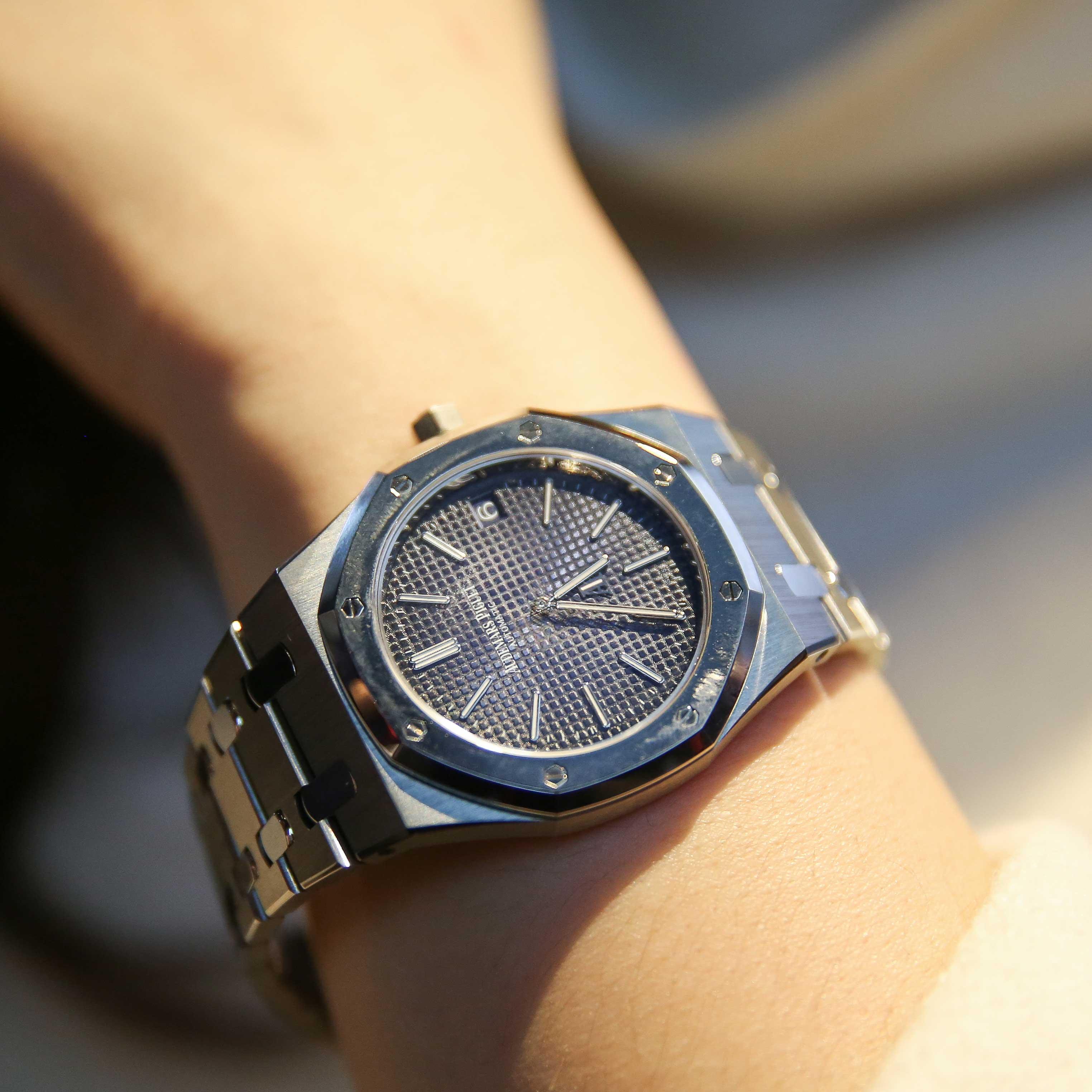爱彼 皇家橡树超薄自动腕表
