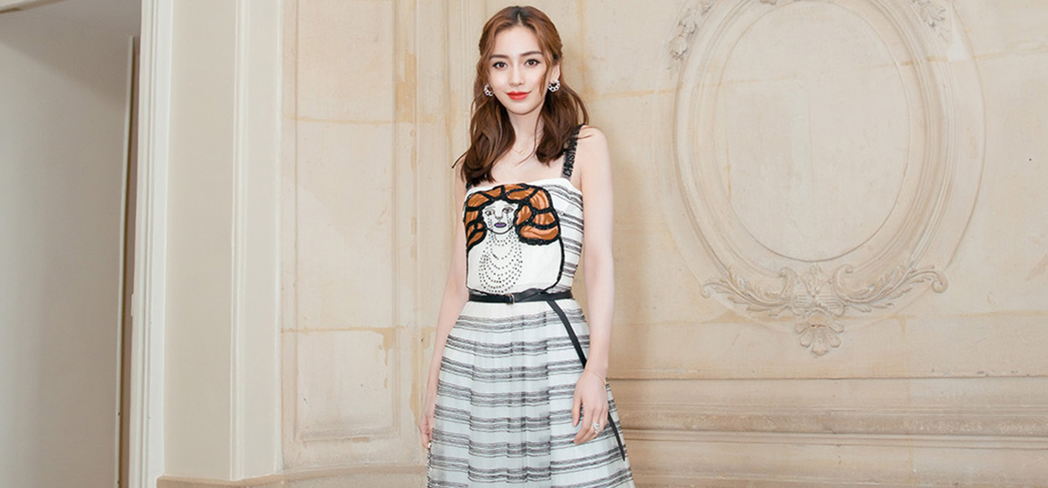 Angelababy生日的前一天看了Dior大秀,她给自己选的礼物是…