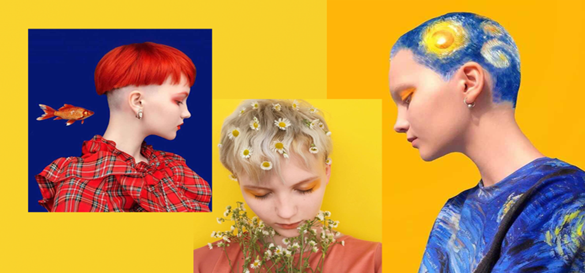 你的发色那么甜,是用彩虹糖染的吧!
