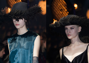 Lanvin 秋冬秀场帽饰黑色毛呢帽低调复古又优雅