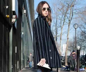 OL时尚博主带你观战 2014巴黎时装周街头