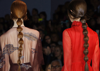 Valentino2014秋冬秀场秀场的发型简洁优雅