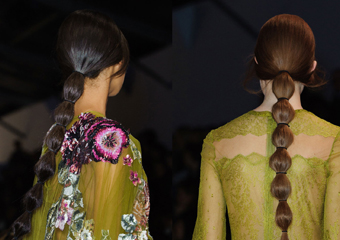 Valentino2014秋冬秀场森林系的仙女发型路线