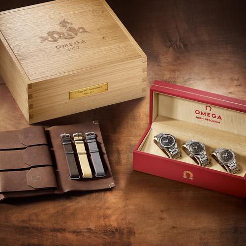 欧米茄荣耀发布1957年三大经典腕表限量版套装