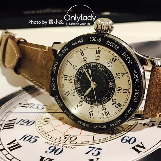 浪琴表连拔时间角度表90周年限量款腕表