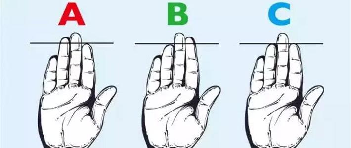 你的手指里,哪个长度仅次于中指?